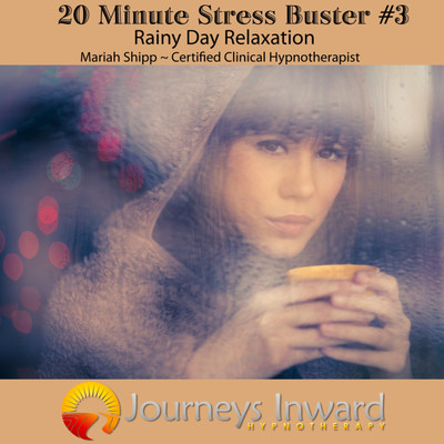 Stress relief hypnosis download MP3, rain sounds, relaxation.