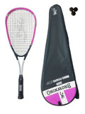 Browning Nanopower 25 PINK Junior Squash Racket + 3 Squash Balls RRP £50