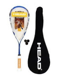 Head Microgel Power Laser Squash Racket + 3 Squash Balls