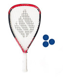 Ektelon Powerfan Vaporizer Racketball Racket + 3 Balls