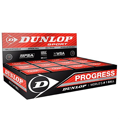12 x Dunlop Progress Squash Ball
