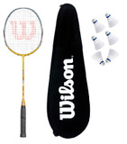 Wilson Fierce CX5000 Badminton Racket + 6 Shuttles