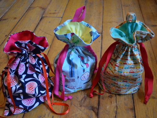 Delightfully Detailed Drawstring Bag at The Sewing Cafe - sewing workshop