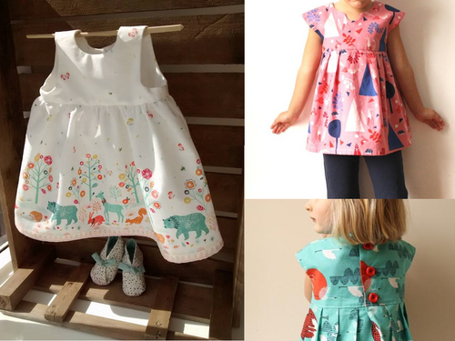 Geranium Little Girls Dress workshop at The Sewing Cafe