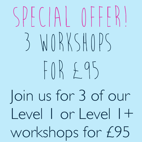 Special Offer - 3 workshops for £95