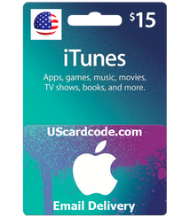 $15 iTunes Gift Card Code Email