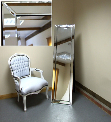Lara modern free standing cheval salon bedroom mirror for Free standing bedroom mirrors