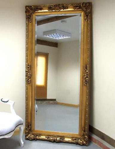 Paris antique baroque rococo full length wall leaner for Baroque leaner mirror