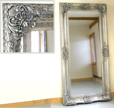 Seville Large Shabby Chic Vinatge Full Length Wall Leaner Mirror ...