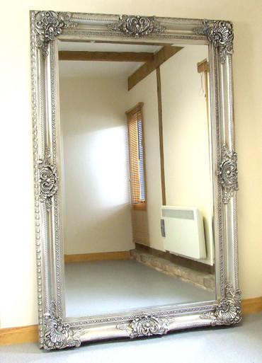 seville ornate extra large french full length wall leaner mirror silver 48 x72 mirrors 2 home. Black Bedroom Furniture Sets. Home Design Ideas