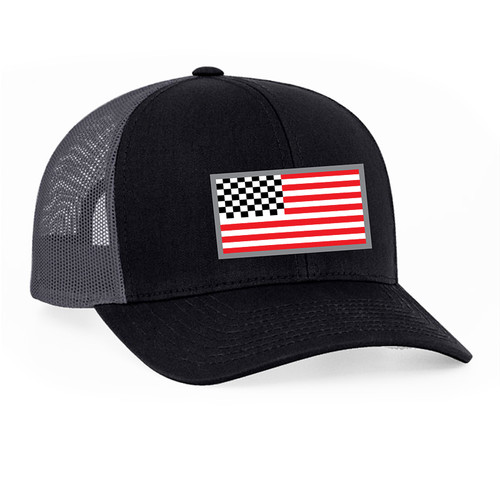 American Racing Flag snap back 104c Blk/Gray