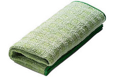 Characteristics:  Removes persistent dirt in no time; Does not damage the surface; Absorption capacity twice its own weight.  Vigorously cleaning and intensively scrubbing a surface at the same time? No problem for the Greenspeed® Diamond microfibre cloth. Hardened polyester is interwoven between the fibers of this cloth. With this you can remove persistent dirt without effort, and without damaging the surface.  The Greenspeed® Diamond microfiber cloth is perfectly suitable for use on hard surfaces like granite and melamine, but also on polished stainless steel, ceramic and enameled surfaces. This makes the Diamond microfiber cloth indispensable in bathrooms and kitchens.  After cleaning with the Diamond microfiber cloth, the surface has to be wiped with a Greenspeed® Original microfiber cloth, then everything is hygienically clean and without wipe marks.