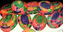 Ethiopian Multicolored Baskets - Medium