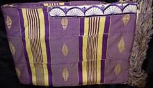 Kente Cloth Tallit - Purple with Cream 5-strip
