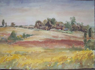 ARNOLD NELSON ANDERSON LISTED AUTUMN FARM COUNTRYSIDE WATERCOLOR 9\31 SIGNED