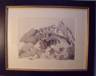 """LEAVES"" GRACE WOOD HERRING AMER CA 1950-60 CUSTOM FRAMED"
