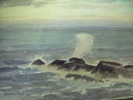 ARNOLD NELSON ANDERSON LISTED CASCO BAY MAINE WC SEA SPRAY DATED 1933