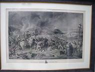 FOC DARLEY SHERMAN'S MARCH TO THE SEA STONE LITHOGRAPH FOLIO 1883 CUSTOM FRAME