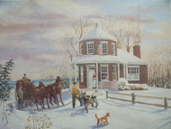 ROBERT T. HORVATH SEARIGHTS TOLLHOUSE SIGNED NUMBERED CUSTOM FRAMED