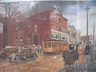 ROBERT T. HORVATH MAIN ST CA 1932 WASHINGTON PA SIGNED NUMBERED CUSTOM FRAMED
