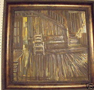 """SUMMER BREEZE"" OIL PAINTING ON CANVAS CA 1970 CUSTOM FRAME"