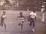 "DAVID WILKIE NYC ""FOUR GIRLS RUNNING"" FR TRACK & FIELD PHOTOGRAPHS NYCHA CA 1970"