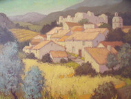 """LES ROUSSETS (DROME)"" SIGNED GREG FRENCH IMPRESSIONIST PARIS GALLERY 1968"