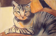 """TIGER CAT"" OIL ON CANVAS CONTEMPORARY SIGNED"