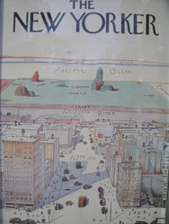 "Saul Steinberg  The New Yorker ""View of the World From 9th Ave"" 1st Print Matt Paper Lithograph 1976"