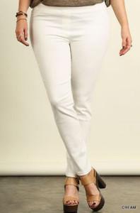 Plus-size Cream Leggings