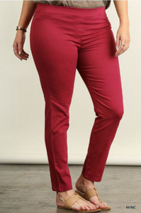 Wine Colored Leggings in Plus-size