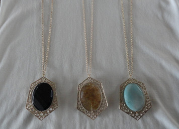 Large Movable Stone Necklace
