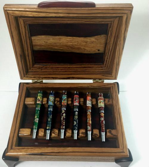 box set of six pens