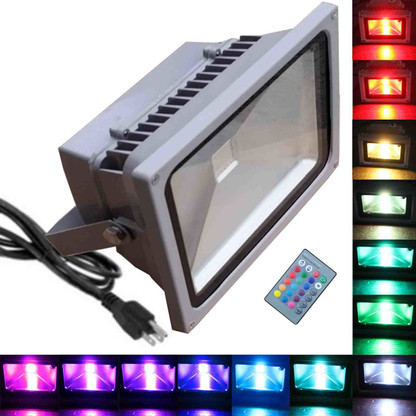 50w rgb flood light tdltek 50w rgb color changing led flood image 1 mozeypictures