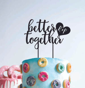 Personalised better together - With initials
