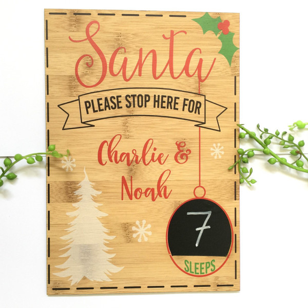 A personalised Christmas Countdown board