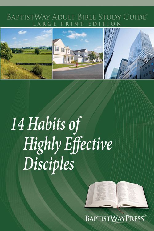 Large print version of this 14 lesson discipleship Bible study complete with devotional commentary on the Scripture passages that explore what it takes to become an effective disciple of Jesus. 14 lessons; Paperback; 228 pages.