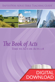 Digital Bible commentary on Acts with 2 sets of teaching plans for each of the 13 lessons. PDF; 154 pages.