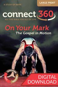Digital Large Print Bible Study of Mark with devotional commentary and reflection questions. PDF; 200 pages.