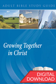 Digital Bible study on 14 discipleship topics of how believers can be Growing Together in Christ. PDF; 150 pages.