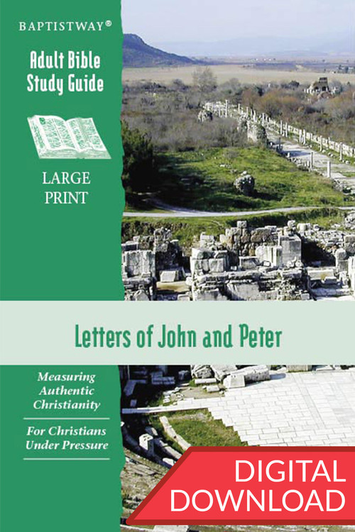 Digital Bible study of the Letters to John (6 lessons)  and Peter (7 lessons). Devotional Bible commentary and reflection questions for each lesson. PDF; 135 pages.