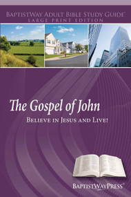 Large print study guide of 12 lessons on John for individuals and adult Sunday school. Paperback; 218 pages.