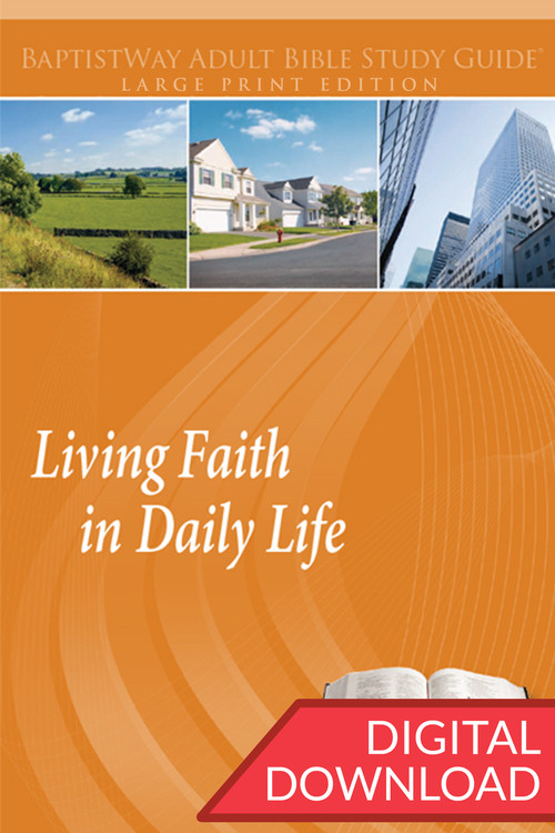 Digital large print Bible study Living Faith in Daily Life. PDF; 208 pages.