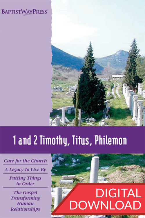Digital teaching plans to lead a Bible study of  1 and 2 Timothy, Titus, and Philemon. 13 lessons; PDF.