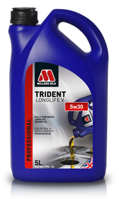 Millers Oils Trident Longlife V 5w30 Fully Synthetic Engine Oil for Professional