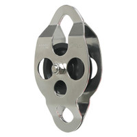 CMI RC106 Stainless Ropes Course Needle Bearing Dbl End Pulley