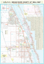 "Indian River County, FL 42"" Wall Map Rail Mounted"