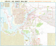 "Lee County, FL 60"" Wall Map Rail Mounted"