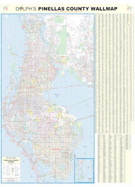 "Pinellas County, FL 60"" Wall Map Paper Only"