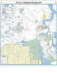 "Putnam County, FL 60"" Wall Map"